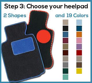 design your floor mat heelpad